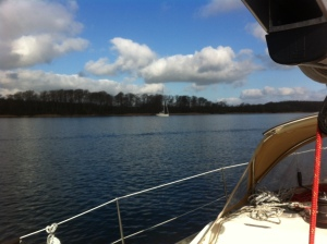 Boat at anchor in Alssund