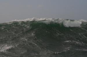 Lots of breaking waves