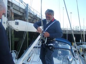 On my way up the mast