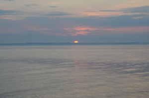 sunrise in Øresund