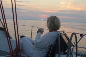vinni catching the sunrise