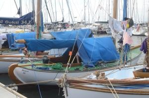 Older gaff-rigged boats arrive