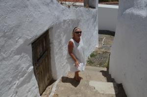 narrow steps and street