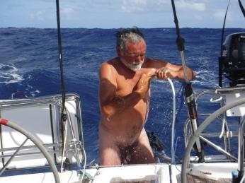 Bathing at sea