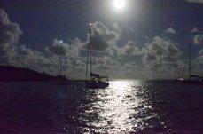 Capri in a full moon in paradise