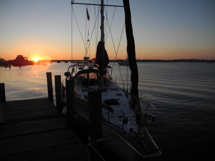 Sundown in -caspers Marina - Swansboro