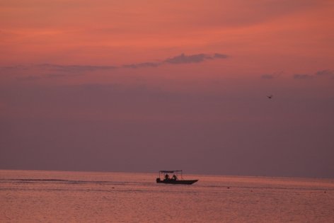 Fishermen at dawn on the Coan River